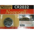 BATTERIA BOTTONE CR2032 3V NOVACELL