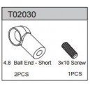 Ball End short 4.8 (2 pcs) 2WD Buggy TEAMC