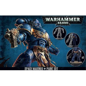 SPACE MARINES + PAINT SET